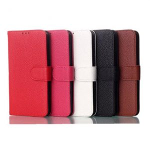 Fashion Magnetic Clasp Litchi Grain Leather Case For For LG L90