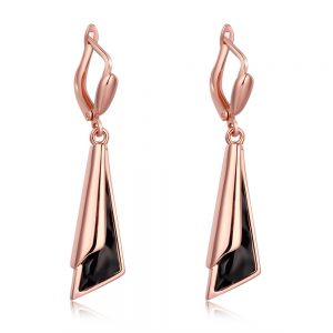 Beautiful fashion boutique jewelry gilded gem pendant earring