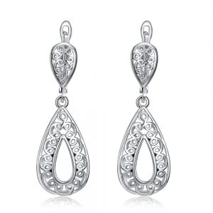 Charms statement cheap clip on drop elegant fashion earring