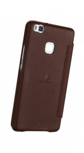 Lenuo Ledream Series Leather Cover Case for HTC A9 Case - Brown
