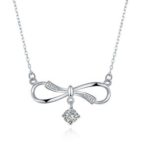 Butterfly knot necklace