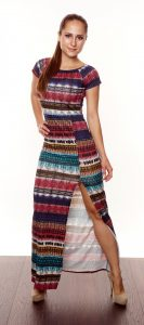 EVERYDAY DREAMS AZTEC PRINT MAXI DRESS WINE