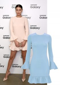 BELLA HADID SKY BLUE CELEBRITY INSPIRED DRESS