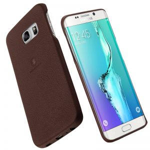 Lenuo Music II Series Leather PC Case for Samsung S6 Plus - Brown