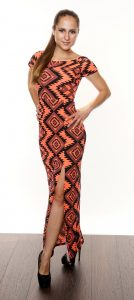 EVERYDAY DREAMS AZTEC PRINT MAXI DRESS CORAL