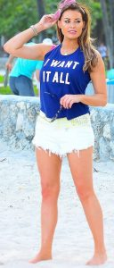 ELSIE ROYAL BLUE HALTER SLOGAN CROP TOP