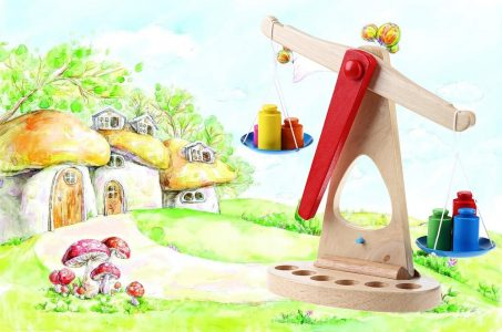 Early Learning Toys Wooden Balance Scale