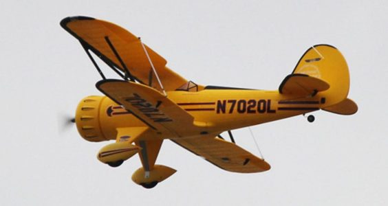 YELLOW Dynam WACO YMF - 5D Aileron Roll 1270mm Wingspan 4 Channel Warplane Glider RTF Version
