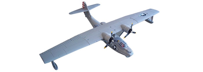GRAY  Dynam Catalina 1470mm Wingspan Seaplane Gift for Flying Lover RTF Version