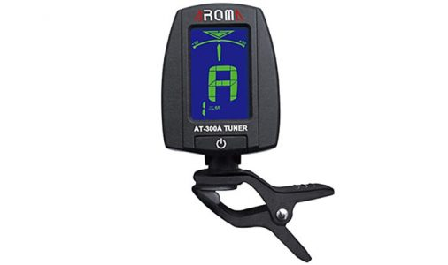 AROMA AT - 300A Portable Clip-on Electric Tuner Backlit Screen for Chromatic Erhu Lute Zither  -  BLACK