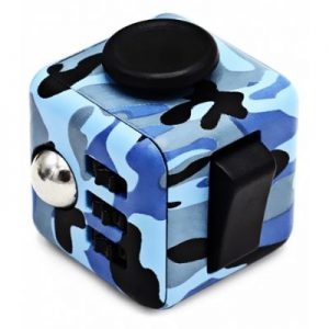 BLUE CAMOUFLAGE ABS Stress Reliever Fidget Magic Cube Toy for Worker