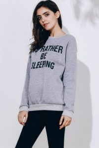 Sweatshirt Round Neck Letter Pattern Women's Long Sleeve