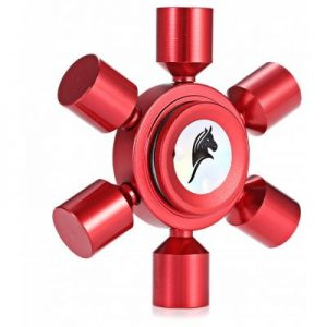 RED Toy KELIMA Aluminum Alloy Rudder Fidget Spinner Stress Reliever