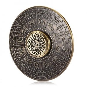 BRONZE Zinc Alloy Twelve Constellations Fidget Spinner