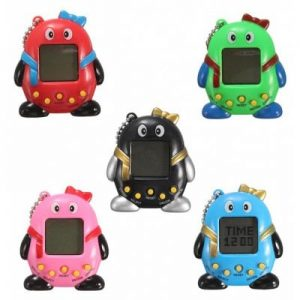 1pc Key Chain Design Nostalgic 49 in 1 Electronic Pet Toy