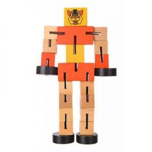 Multifunctional Wooden Robots Educational Toys