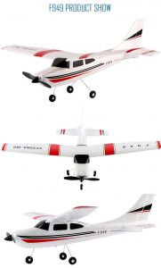 WHITE  WLtoys F949 Cessna 182 2.4G 3 Channel RC Aircraft Fixed - wing RTF Airplane