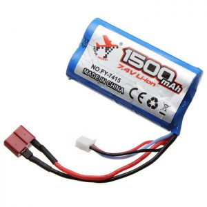 Battery Fitting for Feiyue FY01 FY02 FY03 Extra Spare FY-7415 7.4V 1500mAh RC Car BLUE