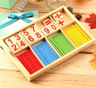 Mathematics Material Learning Tool Toy for Kid Wooden Montessori