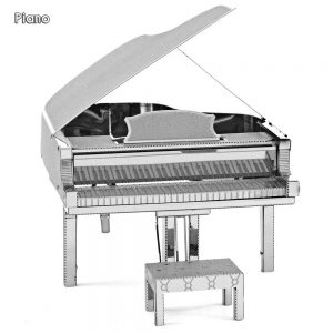 SILVER Piano 3D Metallic Puzzle Educational DIY Toy