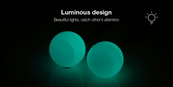 BLUE Knuckles Finger Yo-yo Chucks Luminous Stress Reliever Toy
