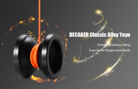 BLACK DECAKER Durable Alloy YO-YO Black Pegasus Toy Cool Gift for Kids