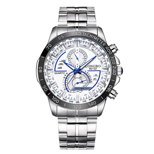 Men Casual Quartz Wrist Watch Stainless Steel Luminous Fashion LONGBO 80132