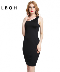 Summer Dresses ladies knitting The New fashion horny Brands dress top quality Solid