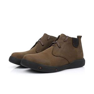 Men Comfortable Genuine Leather Fur Lining Wear Resistance Outsole Ankle Boots