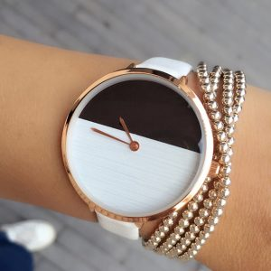 2017 New style 2 Color wood vogue easy Dial Watch ladies Elegant skinny Strap Fashion Any match Casual woman ticker hours
