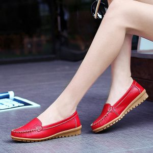 Women Flat Shoes Casual Slip On Outdoor Loafers