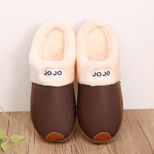 Warm Wool Fleece Lining Slip On Home Casual Indoor Slippers