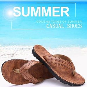 New Men Casual Slipper Summer Beach Flat Soft Comfortable Flip Flop Sandals Leisure Shoes