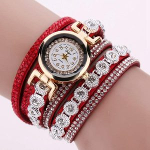 DUOYA DY038 Colorful Fashion Style Wristwatch Crystal Round Dial Bracelet Elegant Women Watch