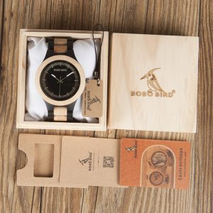 BOBO BIRD Male Antique picket Watches CdO01 O02 with picket Band Fashion New Uomo Orologio Japan in Gift Box