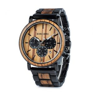 BOBO BIRD WP09 picket Mens Watches prime whole Luxury trendy Watch Wood & chrome steel timer Military Quartz Watch