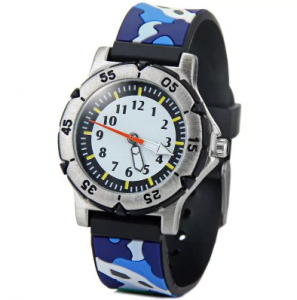 3D Camouflage Colors Quartz Watch Rubber Watch Band Children Watches