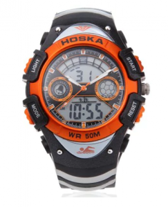 Dual Movt Kid Sport Quartz Digital Watch