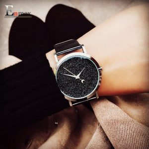 New vogue watch Enmex artistic style substance conception style easy face steek band quartz fashion ticker