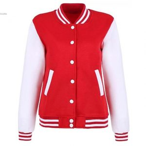 ladies Casual Stand Collar arm Patchwork Thread Hem and Cuffs Baseball Jacket Outwear New Fashion