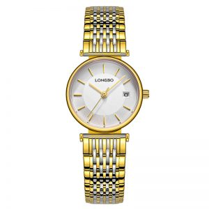 LONGBO 5111 Fashionable Quartz Watch Stainless Steel Strap Couple Watch Gifts