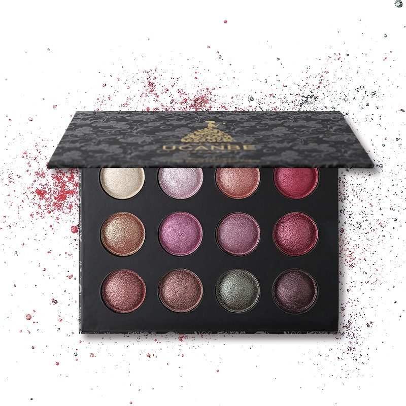 12 Colors Shimmer Baked Eye Shadow Palette
