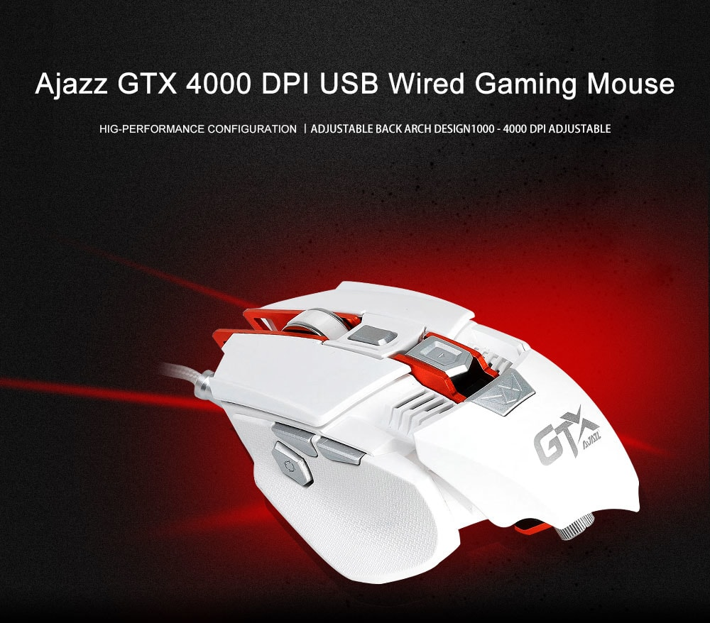 Ajazz GTX 4000 DPI USB Wired Gaming Mouse