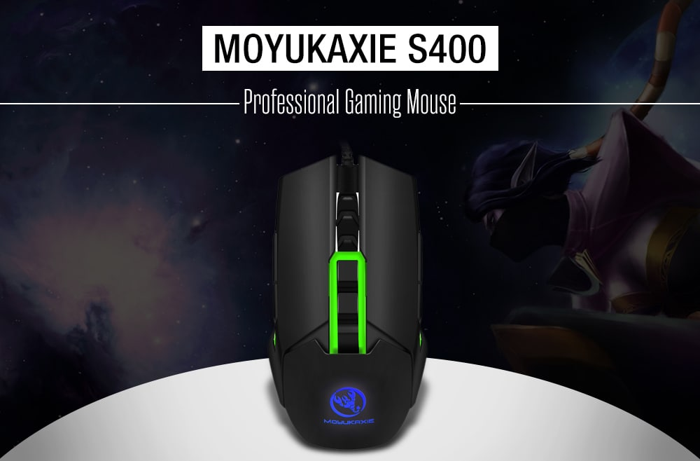 MOYUKAXIE S400 Left-handed / Right-handed Professional Gaming Mouse for E-sports