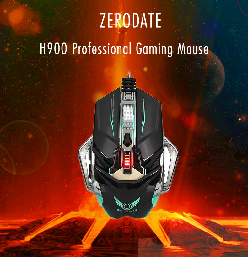 ZERODATE H900 Professional Gaming Mouse with Avago A3050 Sensor for E-sports