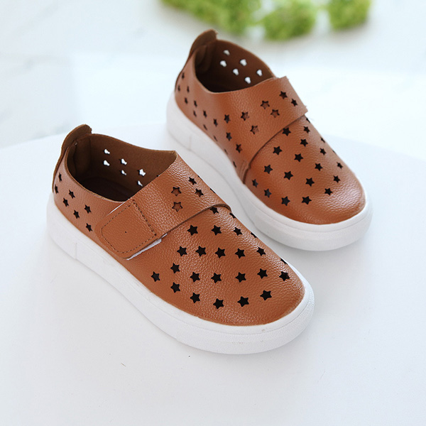 Kids Summer Breathable Stars Hollow Out Flats Children Casual Shoes