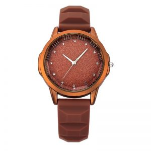 REBIRTH RE078 Fashionable Female Wrist Watch Rhinestone Silicone Strap Quartz Watches