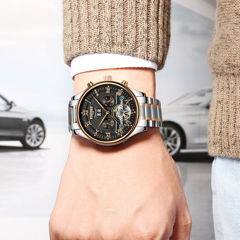 KINYUED J012 Working Sub-dials Automatic Mechanical Watch