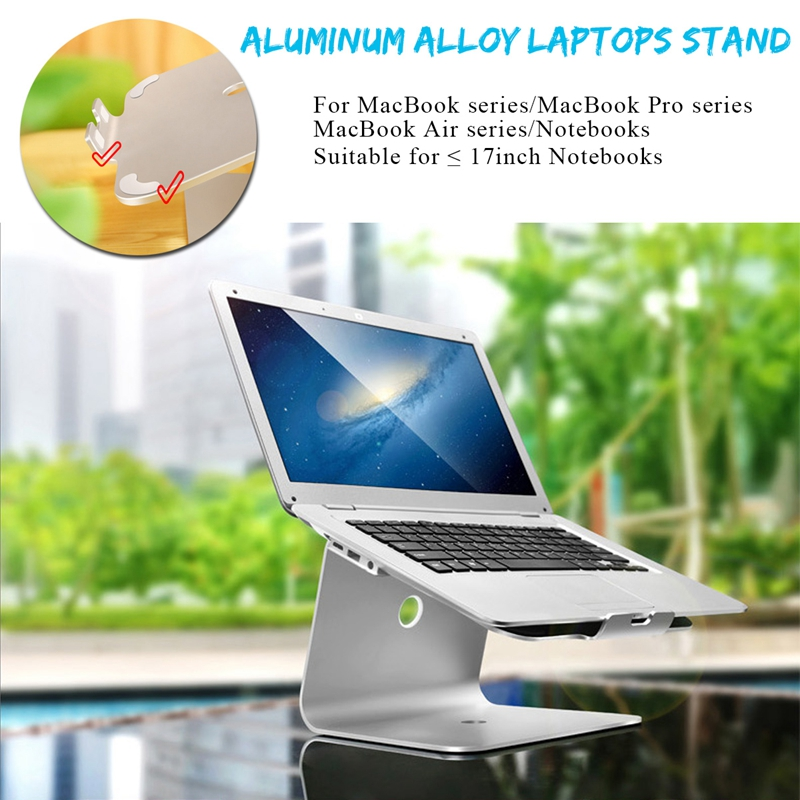 Aluminum Alloy Laptop Cooling Stand Holder For Notebook Macbook Under 17 Inch