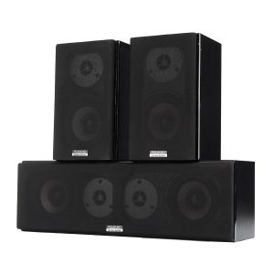 100W 4 Inch HiFi Double Treble Center Channel Passive Home Audio Speaker Theatre System
